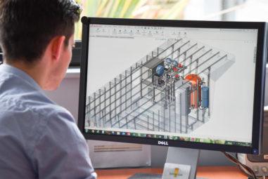 3D-Entwurf einer Heizungsanlage für ein