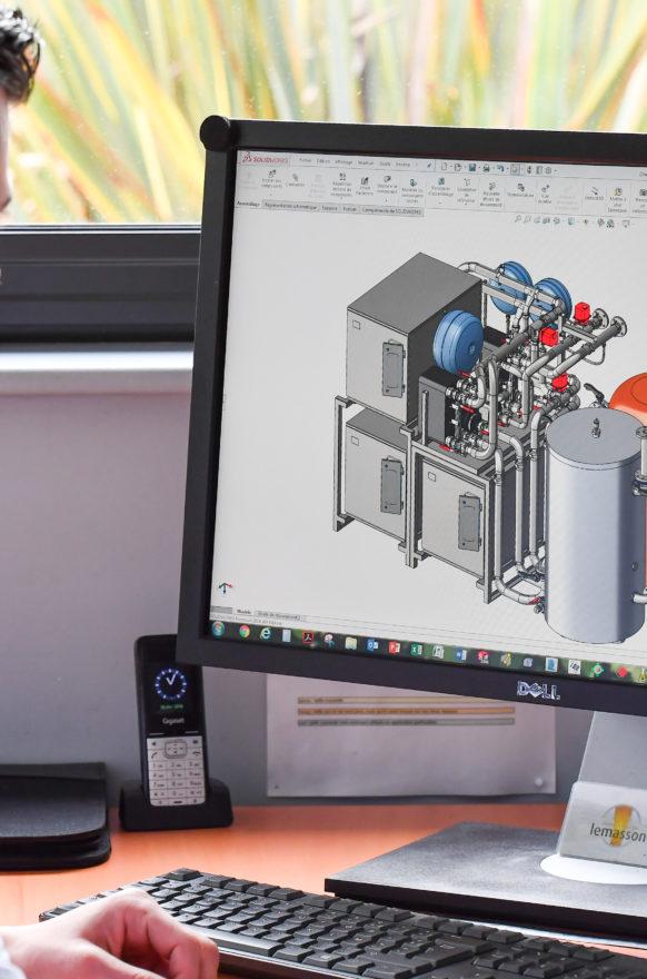 3D-Entwurf einer Heizungsanlage